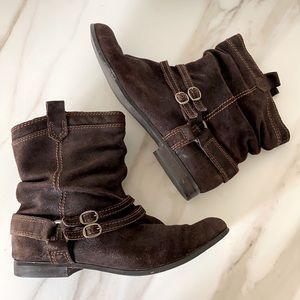 Array Women's 'Maverick' Brown Suede Boots 11 Wide